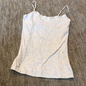 Light gray camisole with lace detailing